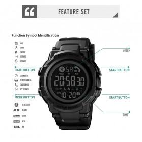 SKMEI Jam Tangan Smartwatch Pria Bluetooth Pedometer - 1501 - Black - 7