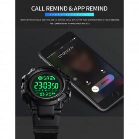 SKMEI Jam Tangan Smartwatch Pria Bluetooth Pedometer - 1501 - Black - 8