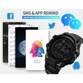 SKMEI Jam Tangan Smartwatch Pria Bluetooth Pedometer - 1501 - Black - 9