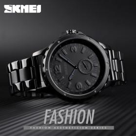 SKMEI Jam Tangan Analog Pria Strap Stainless Steel - 1513 - Black - 3