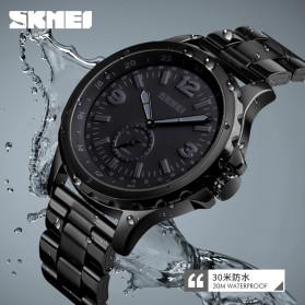 SKMEI Jam Tangan Analog Pria Strap Stainless Steel - 1513 - Black - 5