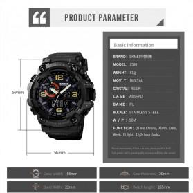 SKMEI Jam Tangan Digital Analog 3 Time Pria - 1520 - Black - 4