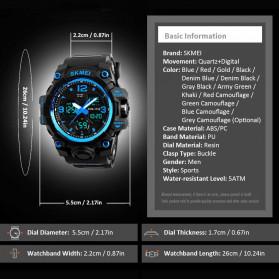 SKMEI Jam Tangan Analog Digital Pria - AD1155B - Gray/Black - 7