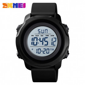 SKMEI Jam Tangan Digital Sporty Pria - 1540 - Black White - 1