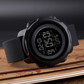 SKMEI Jam Tangan Digital Sporty Pria - 1540 - Black White - 7