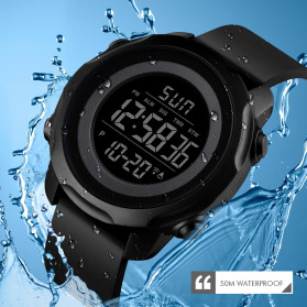 SKMEI Jam Tangan Digital Sporty Pria - 1540 - Black White - 8