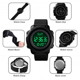 SKMEI Jam Tangan Digital Sporty Pria - 1540 - Black - 9
