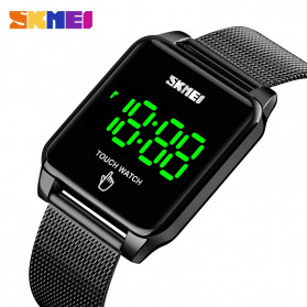 SKMEI Jam Tangan LED Digital Touch Pria - 1532 - Black