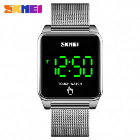 SKMEI Jam Tangan LED Digital Touch Pria - 1532 - Black - 6