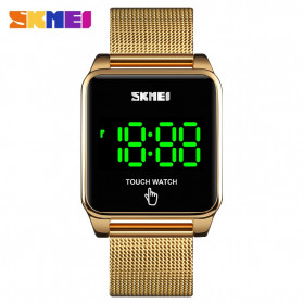 SKMEI Jam Tangan LED Digital Touch Pria - 1532 - Golden