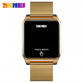 SKMEI Jam Tangan LED Digital Touch Pria - 1532 - Golden - 2
