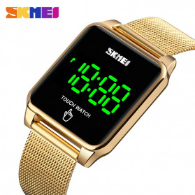 SKMEI Jam Tangan LED Digital Touch Pria - 1532 - Golden - 3