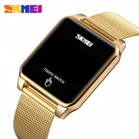 SKMEI Jam Tangan LED Digital Touch Pria - 1532 - Golden - 4