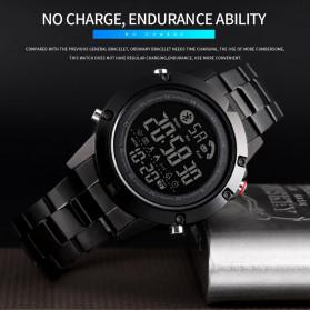SKMEI Jam Tangan Smartwatch Pria Bluetooth Pedometer - 1500 - Black - 4