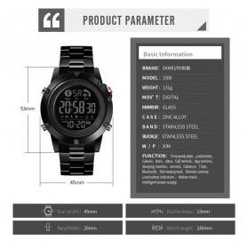SKMEI Jam Tangan Smartwatch Pria Bluetooth Pedometer - 1500 - Black - 7