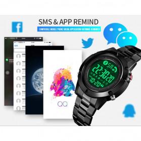 SKMEI Jam Tangan Smartwatch Pria Bluetooth Pedometer - 1500 - Black - 8