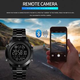 SKMEI Jam Tangan Smartwatch Pria Bluetooth Pedometer - 1500 - Black - 9