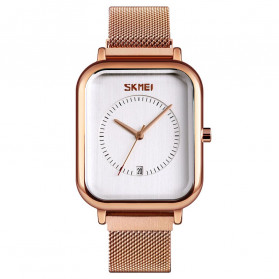 SKMEI Jam Tangan Analog Wanita - 9207 - Rose Gold/White
