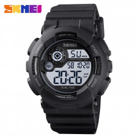 SKMEI Jam Tangan Digital Pria - 1583 - Black White
