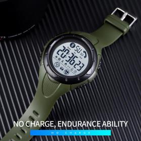 SKMEI Jam Tangan Smartwatch Pria Bluetooth Pedometer Heartrate - 1542 - White/Green - 3