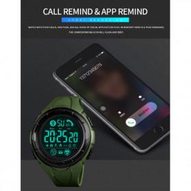 SKMEI Jam Tangan Smartwatch Pria Bluetooth Pedometer Heartrate - 1542 - White/Green - 7