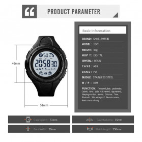 SKMEI Jam Tangan Smartwatch Pria Bluetooth Pedometer Heartrate - 1542 - Green/Black - 6