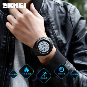 SKMEI Jam Tangan Smartwatch Pria Bluetooth Pedometer Heartrate - 1542 - Black White - 2