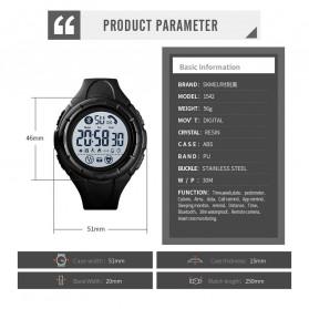 SKMEI Jam Tangan Smartwatch Pria Bluetooth Pedometer Heartrate - 1542 - Black White - 6