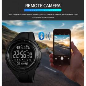 SKMEI Jam Tangan Smartwatch Pria Bluetooth Pedometer Heartrate - 1542 - Black/Black - 9