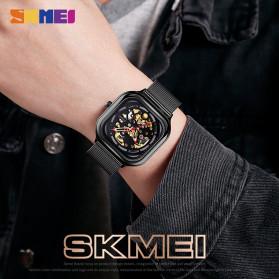 SKMEI Jam Tangan Mechanical Pria Automatic Movement - 9184 - Silver - 4