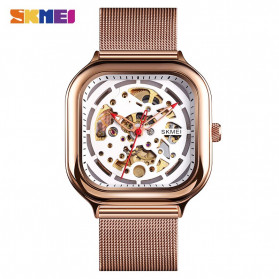 SKMEI Jam Tangan Mechanical Pria Automatic Movement - 9184 - Rose Gold