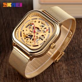 SKMEI Jam Tangan Mechanical Pria Automatic Movement - 9184 - Rose Gold - 3