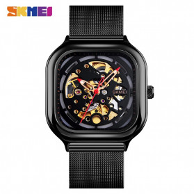 SKMEI Jam Tangan Mechanical Pria Automatic Movement - 9184 - Black
