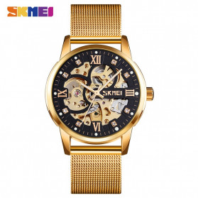 SKMEI Jam Tangan Mechanical Pria Automatic Movement - 9199 - Black Gold