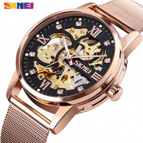 SKMEI Jam Tangan Mechanical Pria Automatic Movement - 9199 - Black Gold - 2