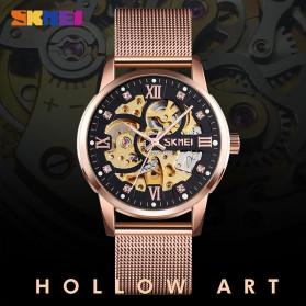 SKMEI Jam Tangan Mechanical Pria Automatic Movement - 9199 - Black Gold - 4