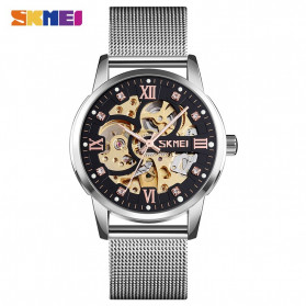 SKMEI Jam Tangan Mechanical Pria Automatic Movement - 9199 - Silver - 1
