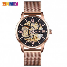 SKMEI Jam Tangan Mechanical Pria Automatic Movement - 9199 - Rose Gold