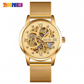 SKMEI Jam Tangan Mechanical Pria Automatic Movement - 9199 - Golden - 1