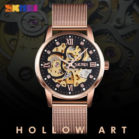 SKMEI Jam Tangan Mechanical Pria Automatic Movement - 9199 - Golden - 4