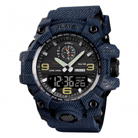 SKMEI Jam Tangan Analog Digital Pria - 1586 - Blue