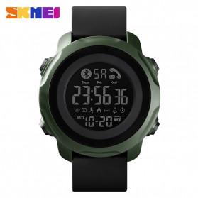 SKMEI Jam Tangan Smartwatch Pria Bluetooth Pedometer Calorie - 1572 - Army Green