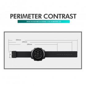 SKMEI Jam Tangan Smartwatch Pria Bluetooth Pedometer Calorie - 1572 - Army Green - 6
