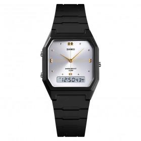 SKMEI Jam Tangan Digital Analog Pria - 1604 - Black/Silver