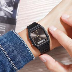 SKMEI Jam Tangan Digital Analog Pria - 1604 - Black/Silver - 2