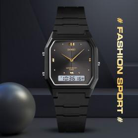 SKMEI Jam Tangan Digital Analog Pria - 1604 - Black/Silver - 6