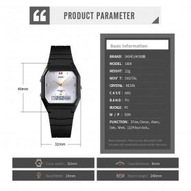 SKMEI Jam Tangan Digital Analog Pria - 1604 - Black/Silver - 8