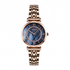 SKMEI Jam Tangan Analog Wanita - 9198-2 - Rose Gold/Black
