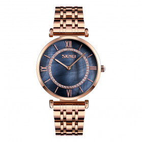 SKMEI Jam Tangan Analog Pria - 9198-2 - Rose Gold/Black