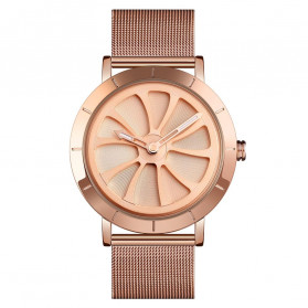SKMEI Jam Tangan Analog Pria Strap Stainless Steel - 9204 - Rose Gold